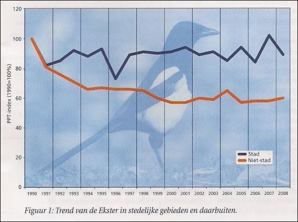 Trend van de Ekster, SOVON, 2009