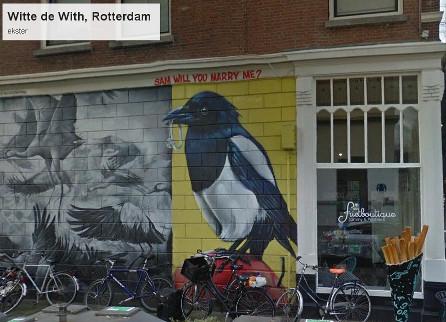 """""""Muurschildering Rotterdam"""